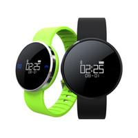 Stocks américains! UW1 Smart Bracelet Montre étanche IP67 Bluetooth 4.0 Pédomètre de fréquence cardiaque Smart Wrist Watch Sport Wristband Pour IOS Andriod