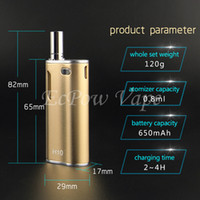 H10 CBD vaporizer vape mod box glass cartridges original bat...