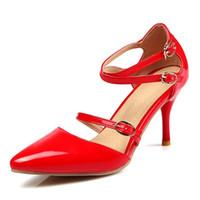 Plus size fashion women elegant working shoes with stiletto ...