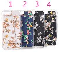2017 NOUVEAU! Étuis de téléphone pour iphone 7 7plus fleurs peintes être inséré dans les cartes bancaires téléphone portable cas pour iphone 7plus 7 couverture