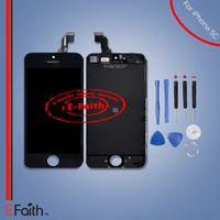 Écran LCD Écran tactile Digital Ensemble complet pour iPhone 5C Remplacement complet d'écran avec outils Livraison gratuite