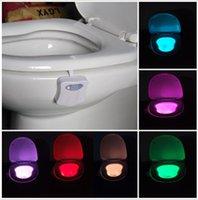 Новый светодиодный датчик движения туалетной ночью свет 8 цветов изменяя Туалет Ванная человеческое тело движения автоопределение активированный Унитаз свет