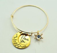 2017 New Alex And Ani Trade Hot I Love You To The Moon And B...