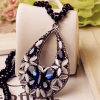 Crystal diamond necklace Clothing accessories necklace Fashi...