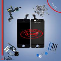 Vente entière Pour l'iphone 5s Plein noir complet Écran d'affichage à cristaux liquides d'affichage noir Digitizer Assemblage avec les accessoires Livraison gratuite