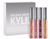 La plus récente arrive kit de l'édition de vacances de Kylie 4pcs Matte kylie jenner Liquid lipgloss Collection Set pour cadeau de Noël