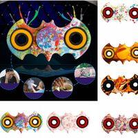 Batman Mão Spinner Batman EDC Handspinner Camouflage Leopard flor Espiral Fingers Gyro Fidget Spinner Com Caixa De Varejo 500pcs KKA1491