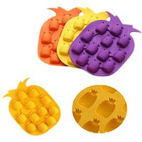 Bar Party Drink Ice Tray Pineapple Shape Ice Cube Freeze Mol...