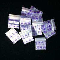 Herb 100 Pcs / Lot 2.5 * 3 cm 1010 Sacs Ziplock Motif Mini Baggies Sachet en Plastique Resserrable Magic