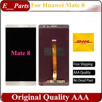 Pour Huawei Mate 8 LCD FHD 6,0 pouces lcd écran + écran tactile écran remplacement blanc noir rapide Livraison gratuite