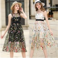 Summer hot style women high quality grenadine embrodiery Fal...