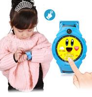 Montre intelligente pour enfants avec lampe flash pour appareil photo LBS Emplacement Écran tactile Smartwatch étanche SOS Anti-Lost Monitor Bébé Montres-bracelets Cadeaux