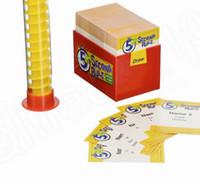 5 Deuxième jeu de règles de jeu de cartes Jouets d'amusement juste cracher it out Carte 5 Deuxième Partie Parti Règle Jeux KTV 20 ensemble KKA1412