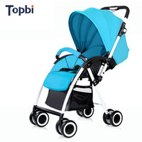 Topbi high landscape baby stroller can sit lying ultra porta...