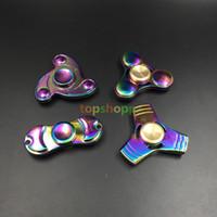EDC Rainbow Wind- fire Rings Wheel Fantastic Hand Fidget Fing...
