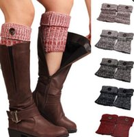 Women Crochet Leg Warmers Winter Knitted Boot Cuffs Fashion ...