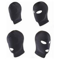 New Arrival Adult games Fetish Hood Mask BDSM Bondage Black ...