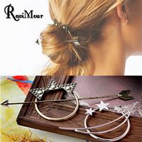 2017 Vintage Gold Silver Hair Sticks Arrow Moon Stars Bob Ha...