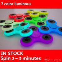 7 Colors Luminous HandSpinner Toy EDC Glow In The Dark Hand ...