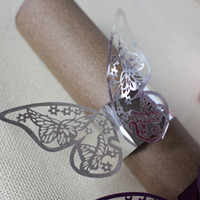 Silver napkin rings for wedding laser cut butterfly rustic n...