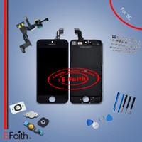 Pour l'iPhone 5C Grade A +++ Plein blanc complet Écran LCD Front Affichage Digitizer Assemblée avec accessorries livraison gratuite