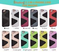 Étui de luxe pour l'armure de protection de l'ombre pour iPhone7 plus 2 en 1 PC TPU téléphone mobile manchon de protection type S cas de téléphone portable coloré Combo