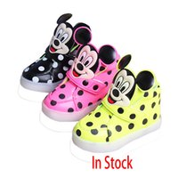 Mickey Mouse LED Shoes Sneakers Luminous Girls Boys Sport Sh...
