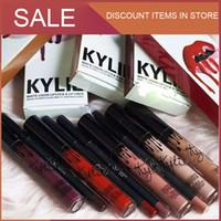 2 en 1! KYLIE JENNER LIP kits Kylie Matte Liquid Lipstick Lip Liner Kylie lèvre Velvetine en Red Velvet Makeup 1set = 1 rouge à lèvres + 1 lipliner