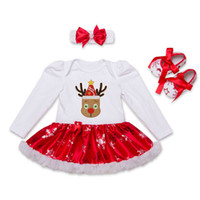 Baby Girls Christmas Rompers Dresses 2017 Newbown Dresses+ He...