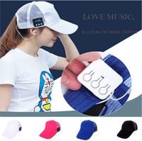 2017 New Bluetooth Sports Baseball Cap Canvas Hat Wireless S...