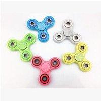 5 cores luminoso Spinner mão brinquedo EDC Fidget Spinner brinquedo mão dedo Tri Spinner descompressão ansiedade Brilho brinquedos dedo CCA5886 300pcs