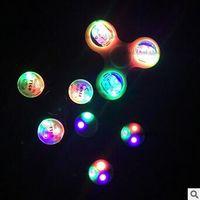 Lumières LED Handspinner Luminous Hand Spinner Pointes Torqbar Fidget Spinner Jouets de décompression en acier inox CCA5781 100pcs