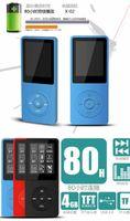 2017 Dernières 8GB HIFI MP4 lecteur avec écran de 1,8 pouces peut jouer 60h X03 uitrathin lecteur MP3 haut-parleur intégré