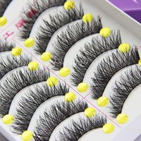 10 Pairs False Eyelashes Natural Long Crisscross Thick Fake ...