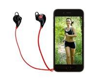 Stocks américains! QY7 mini USB sans fil Bluetooth 4.0 écouteurs écouteurs stéréo écouteurs micro casque pour iPhone Sumsung Livraison gratuite