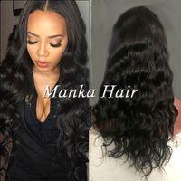 Virgin Human Hair Full Lace Wig brazilian Body Wave Lace Fro...