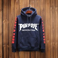Purpose the world tour Hoodies Homens Kanye West Yeezus Tracksuits Camisola Homens suor hip hop Palácio skates roupas
