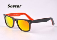 Soscar Double Color Plank Frame Flash Mirror Lenses Brand De...