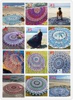 2017 Round Mandala Serviettes de plage Imprimé Tapisserie Hippy Boho Nappe Bohemian Serviette de plage Serviette Couvertures Beach Shawl Wrap Yoga DHL free