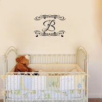 Personalized Initial Creative Decorative Vinyl Wall Decal St...