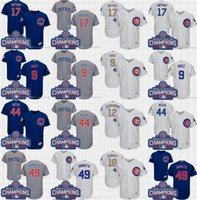 Mens Chicago Cubs Jersey 17 Kris Bryant 44 Anthony Rizzo 9 J...