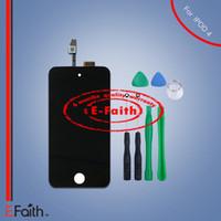 Pour iPod Touch 4 Noir Affichage LCD Avec Écran Tactile Numériseur Cadre De Remplacement Outils Ouverts Livraison gratuite