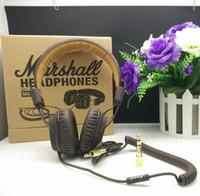 Écouteurs Marshall Major avec microphone Deep Bass DJ Hi-Fi Casque HiFi Headset Professional DJ Monitor Headband