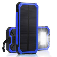 Solar Charger, Portable 15000mAh Solar Battery Charger Dual ...