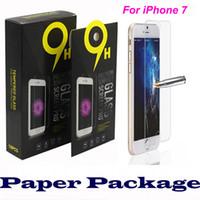 Pour iPhone 7 Protecteurs d'écran en verre trempé pour iPhone 7 Plus iPhone 6 2.5D Explosion Shatter Protecteur d'écran Galaxy s7 s6 Film In Box