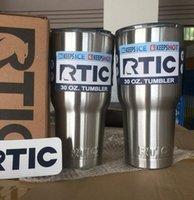 20oz 30 oz RTIC 304 en acier inoxydable 20 oz 30 oz RTIC Logo Cups Tumbler Rambler Cups Sharp en tant que 20 oz 30 oz Tasses