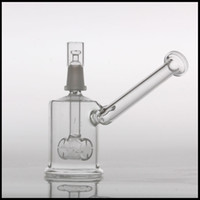 Hitman glass bubbler 14mm mâle dab pétroliers bongs Bubblers Bongs Percolateur Pipes Sidecar verre rig mâle Tuyaux d'eau Bongs