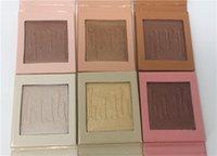El envío libre 6 colorea Kylie Kylie de los cosméticos de Kylie de la crema del caramelo de la torta de la fresa de los cosméticos El Kylighter salado crema de la plátano del caramelo de Kylie