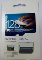 50 PC 2017 nueva tarjeta micro de la tarjeta microSDXC TF del envío de la llegada 32GB 64GB 128GB favorable Class10 UHS-1 MicroSDXC para los teléfonos elegantes de la cámara digital de la PC de la tableta