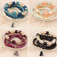 2017 Summer New Fashion Bracelet Multilayers Beads Pulseras ...
